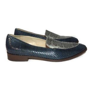 J CREW Collection Snakeskin Loafer Shoe ITALY 7 37